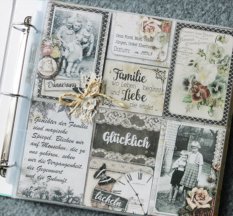 pocket scrapbooking page
