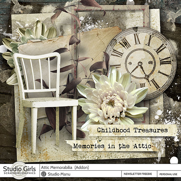Attic Memories Scrapbooking Mini Kit Freebie