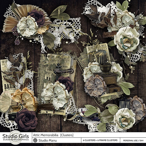 Attic Memories Scrapbooking Clusters