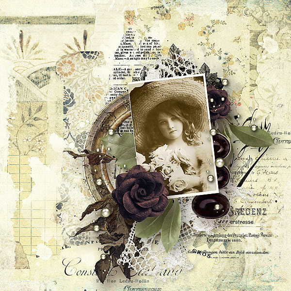 Vintage Scrapbooking Inspiration Layout Attic Memorabilia