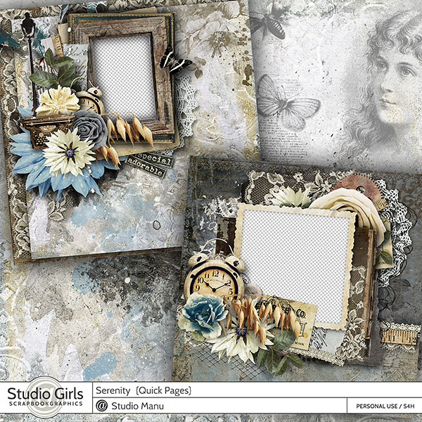 Serenity - Scrapbooking Quiick Pages