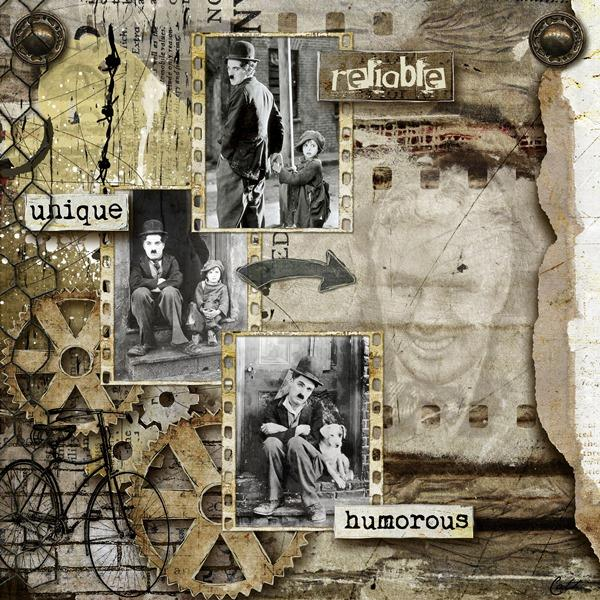 manly scrapbook inspiration page