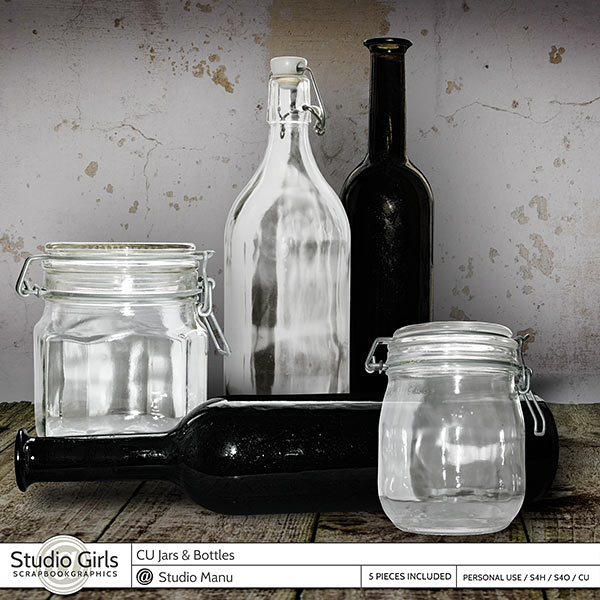 Scrapbooking Commercial Use Jars And Bottles