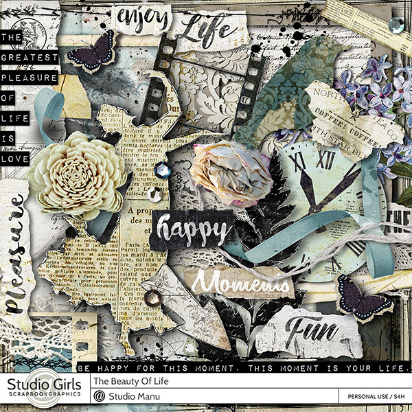 The Beauty Of Life - Scrapbook Page Kit