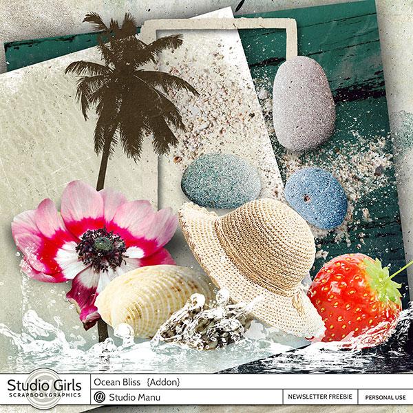 Mini Kit Freebie Summer Scrapbooking Ocean Bliss