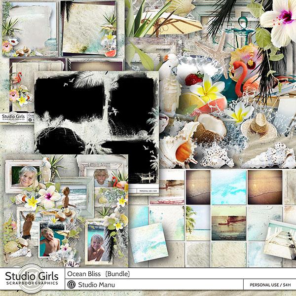 Ocean Bliss Summer Digital Scrapbook Collection