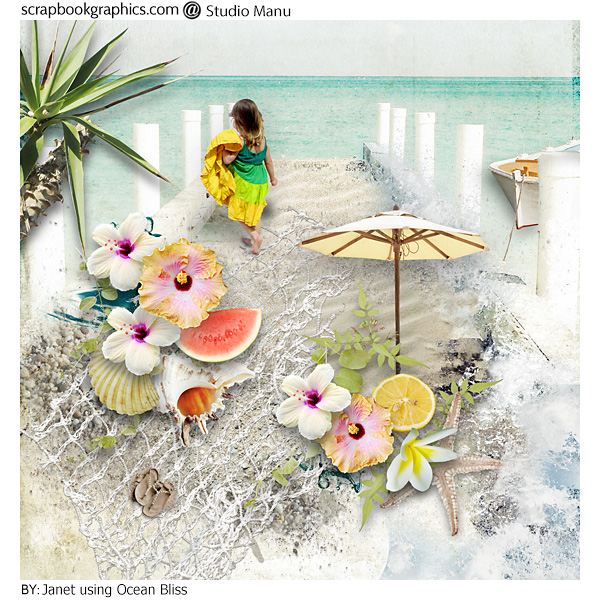 Inspiration Page Summer Scrapbook Layout