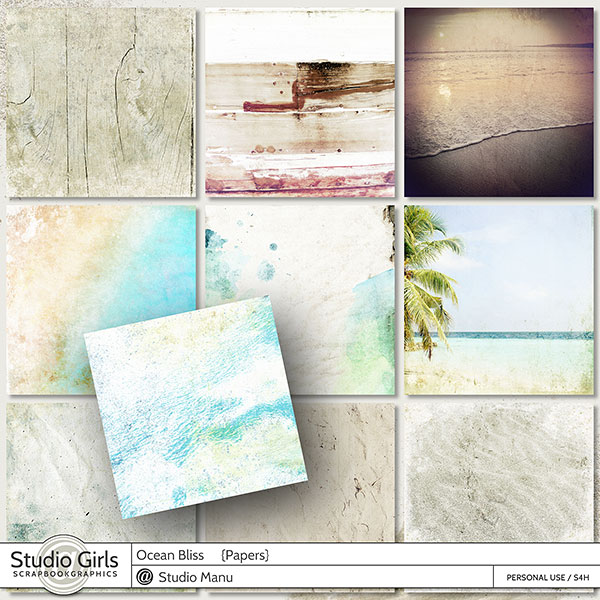 Summer Ocean Bliss Scrapbook Papers