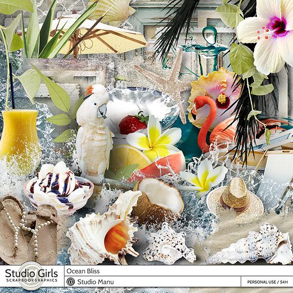 Ocean Bliss Scrapbook Page Kit Summer