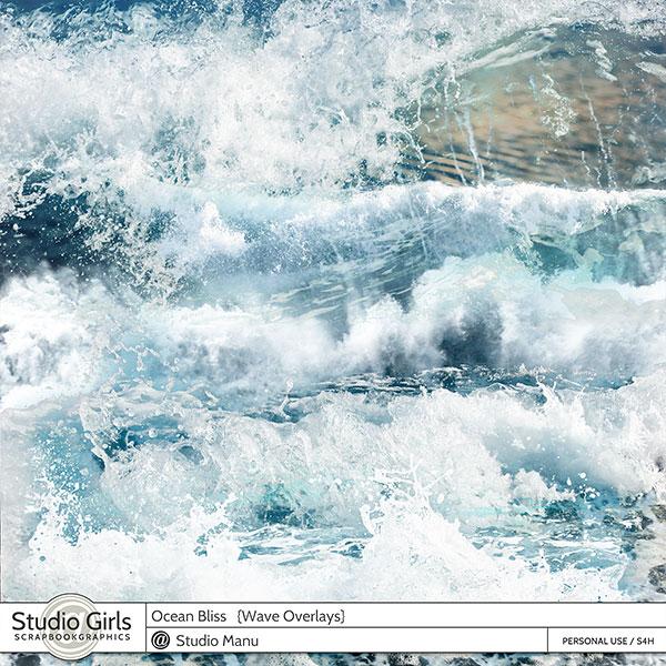 Ocean Bliss Summer Waves Splashes