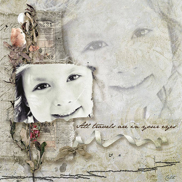 Vintage Lace Inspiration Layout