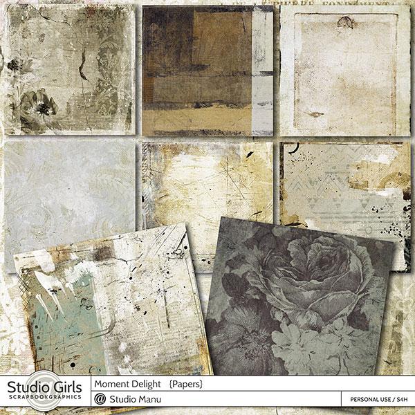 Vintage Digital Scrapbooking Backgrounds