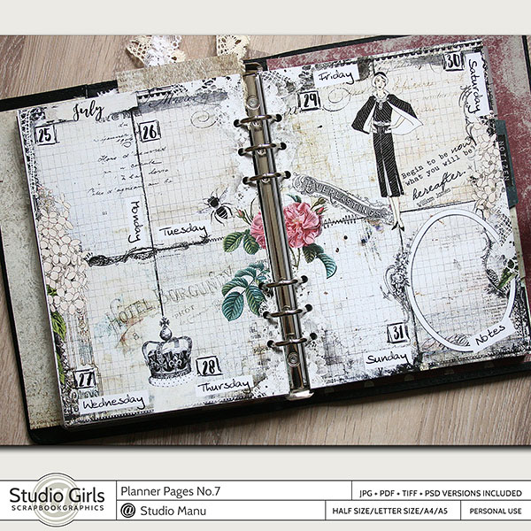 Vintage Printable Planner Pages