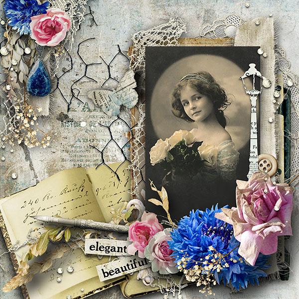 Scrapbook Vintage Inspiration Layout
