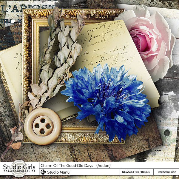 Vintage Scrapbook Free Page Kit