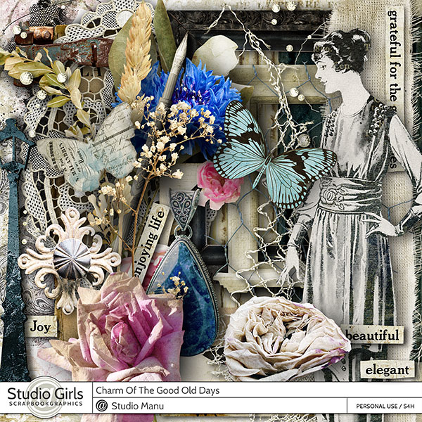 Charm Of The Good Old Days Scrapbook Page Kit