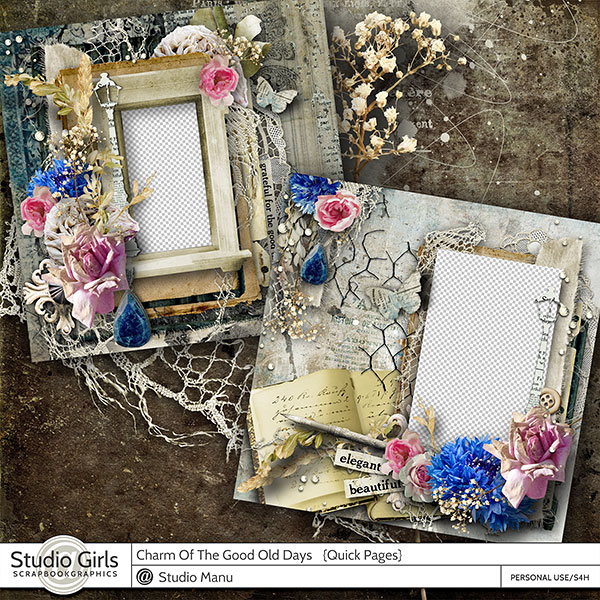 Vintage Heritage Scrapbooking Quick Pages