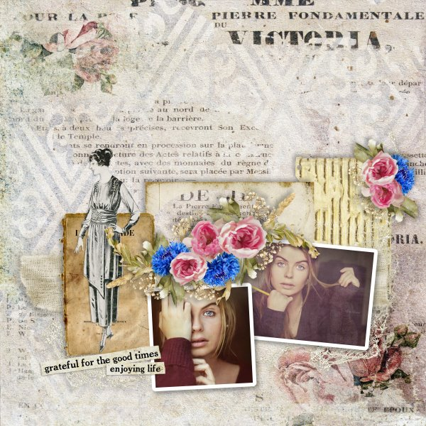 Vintage Inspiration Page Layout