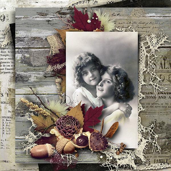 Fading - Vintage Autumn Inspiration Layout