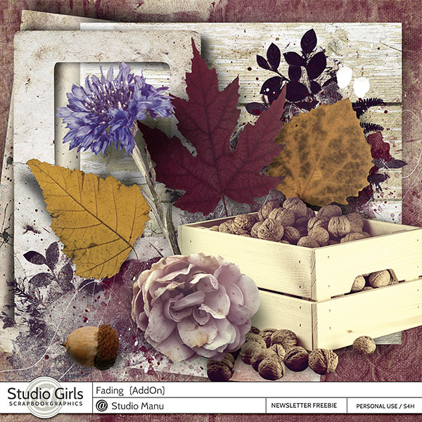 Fading Autumn Scrapbook Mini Kit Freebie