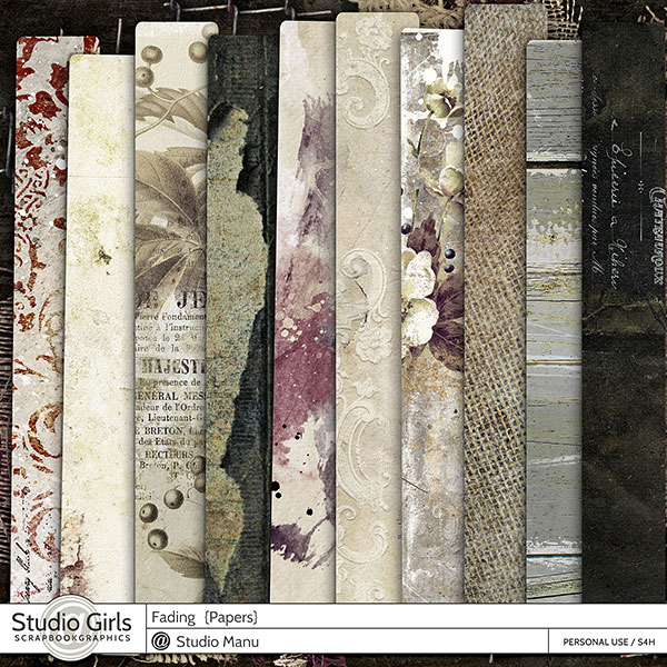 Fading Autumn Scrapbook Papers