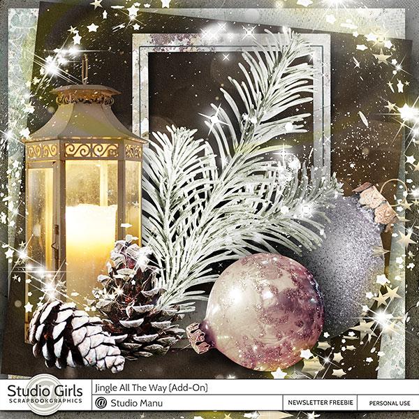 Digital Scrapbooking Freebie Kit Jingle All The Way Christmas Winter
