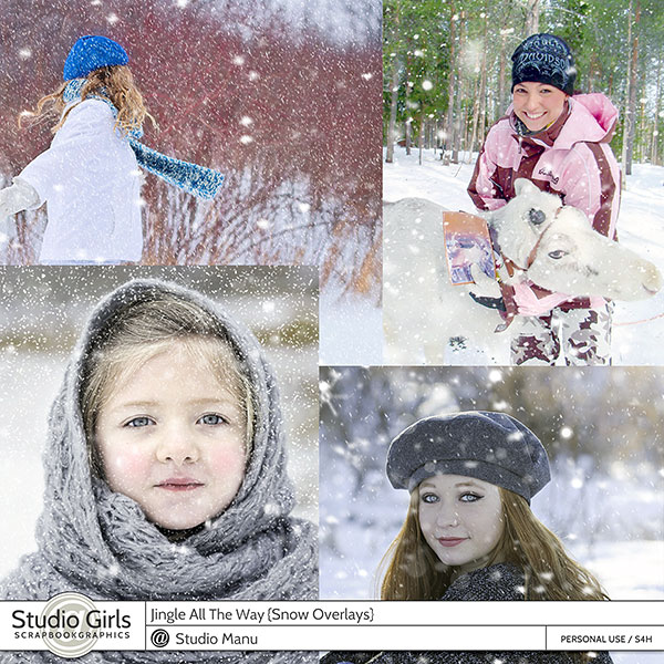Snow Overlays / Textures, falling snow