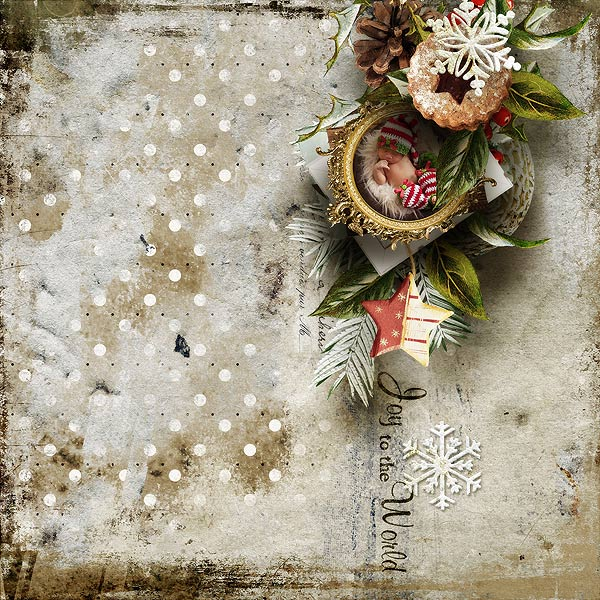 Vintage Christmas Inspiration Layout