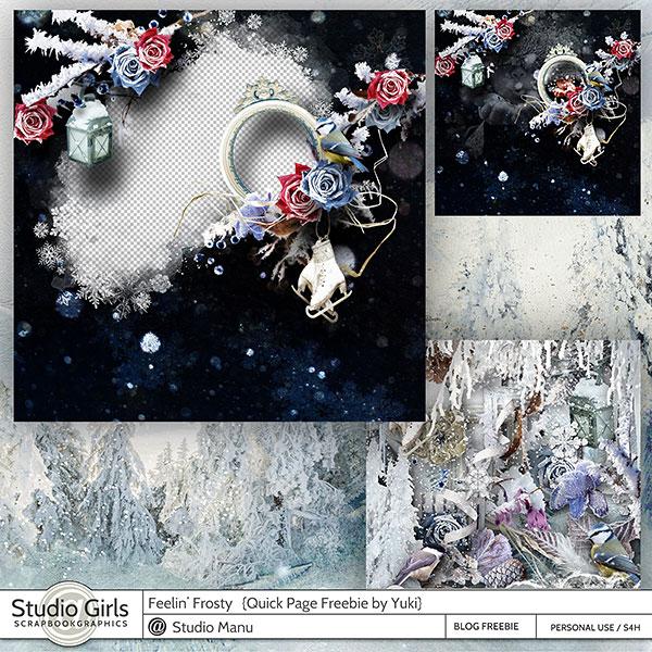 Quick Page Freebie Winter by Yuki