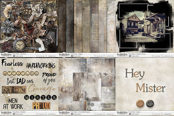 Hey mister masculine scrapbook collection by Laitha
