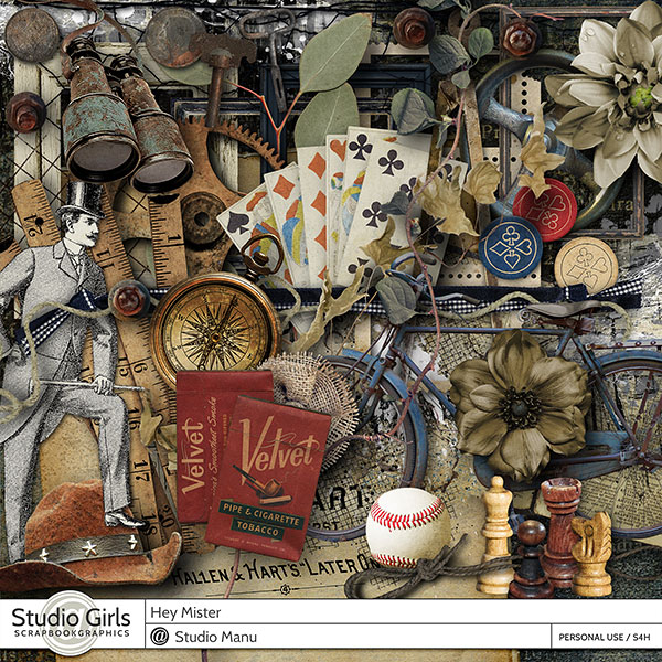scrapbooking kit masculine theme