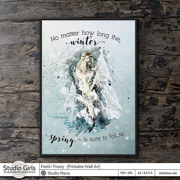 Winter Wall Art Printable