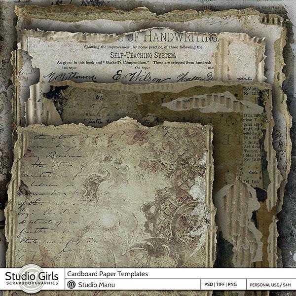 Cardboard Papers editable