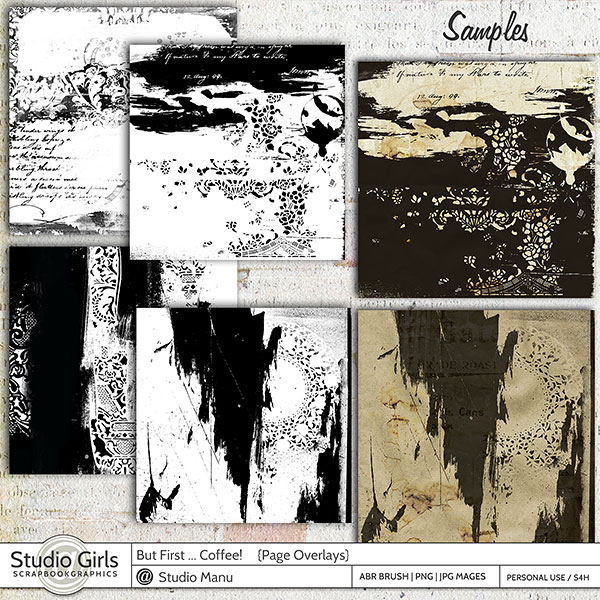 Scrapbooking Paper Collage Overlays