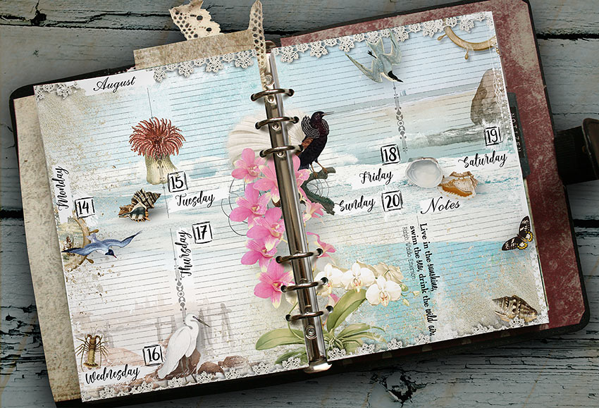 Printable summer style planner pages