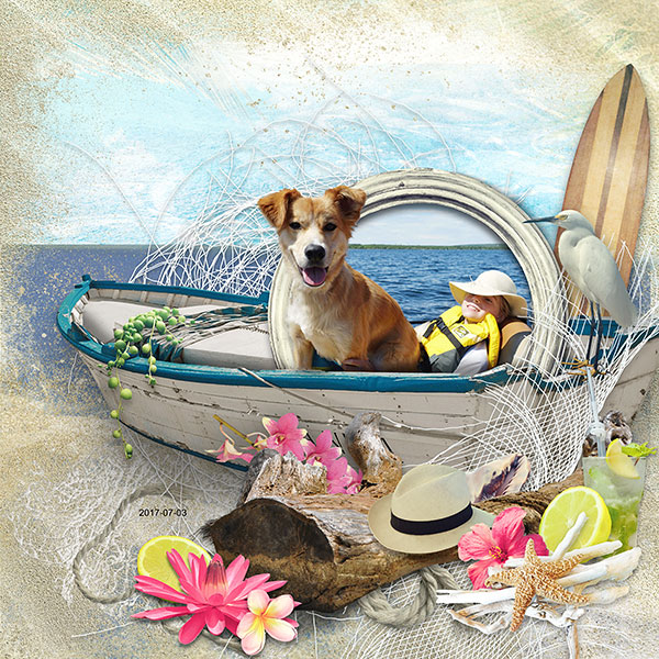 Summer Scrapbook Inspiration Layout