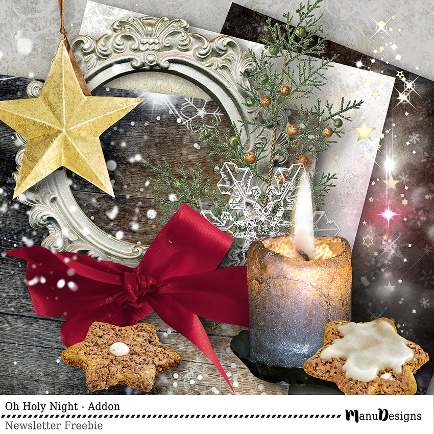 Christmas digital scrapbook freebie