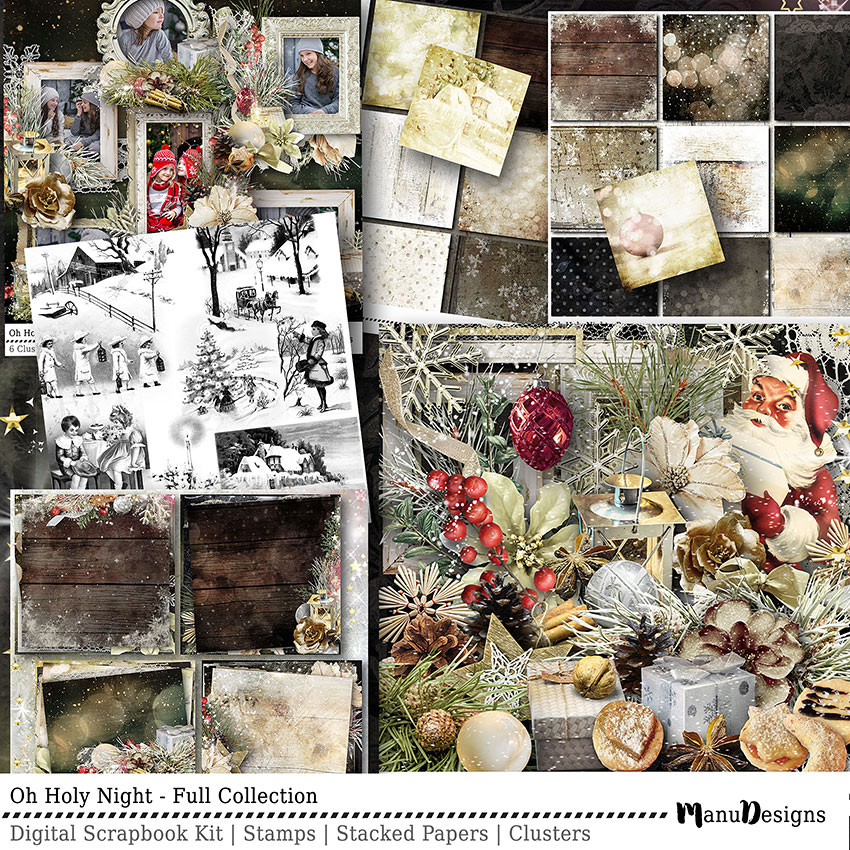 christmas digital scrapbook collection