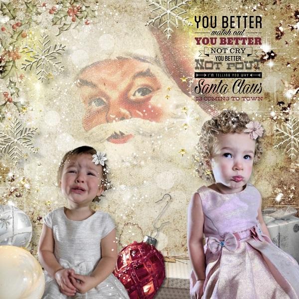 Christmas Scrapbook Inspiration Layout