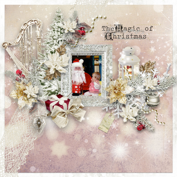 Christmas Cheer Inspiration Scrapbook Layout