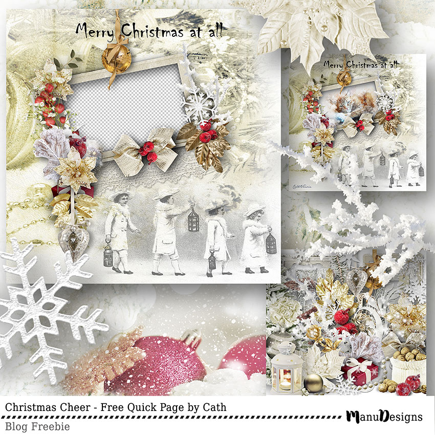 Christmas Cheer Freebie Quick Page by Cath