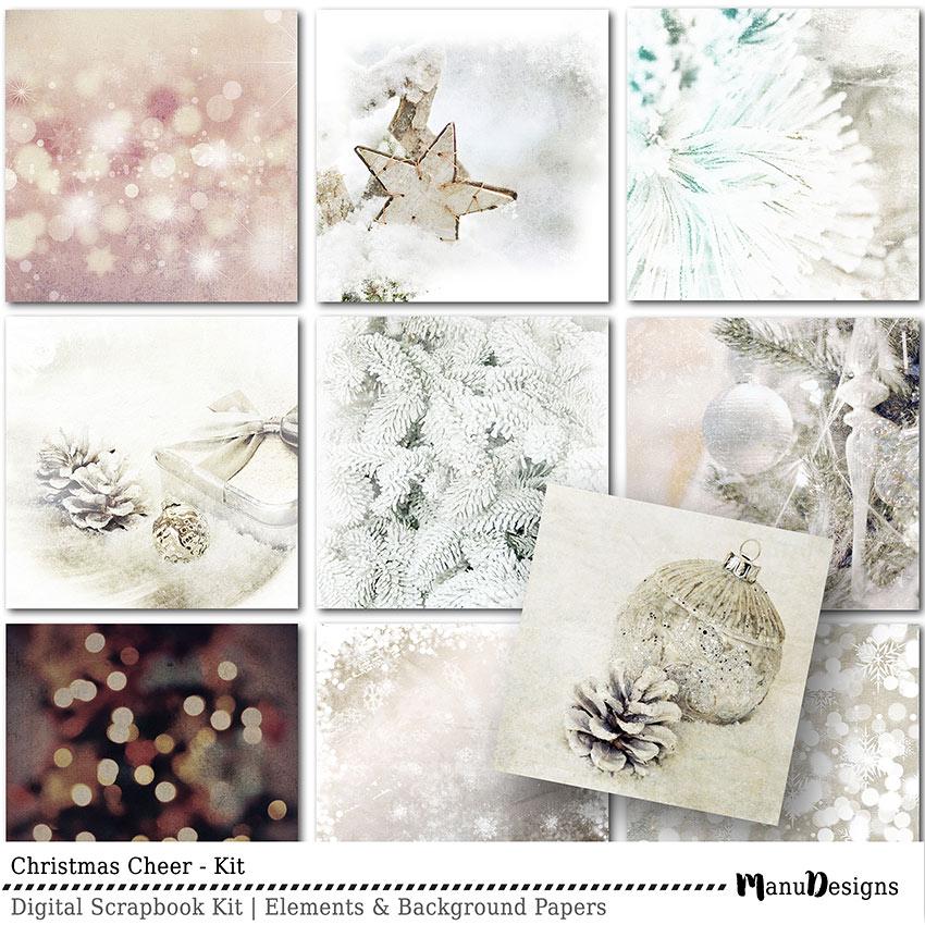 Christmas Cheer digital scrapbook papers