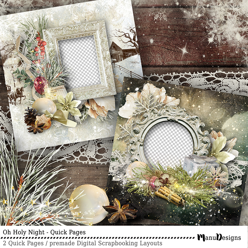 Vintage Christmas Quick Pages