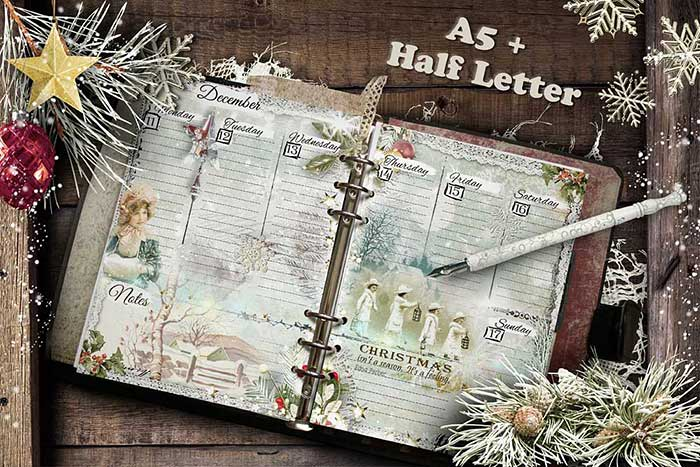 Half Letter and A5 planner inserts printable