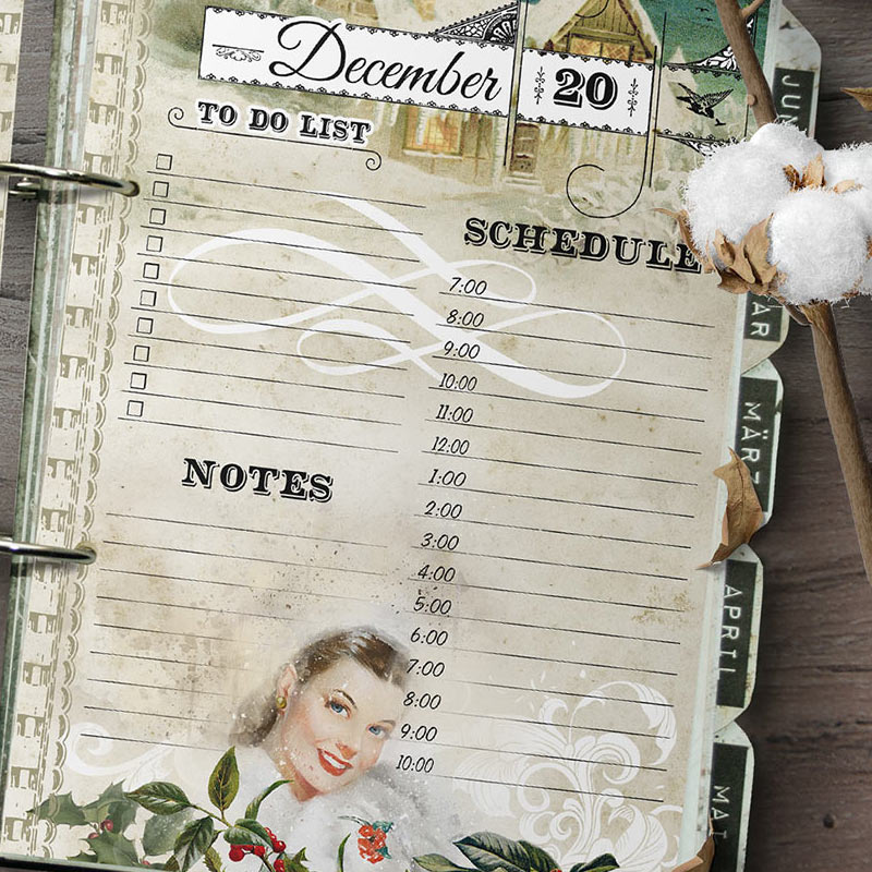 daily printable planner inserts