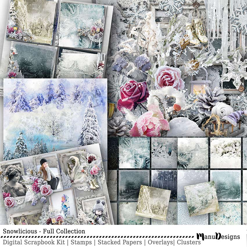 Digital Winter Scrapbook Collection Snowlicious