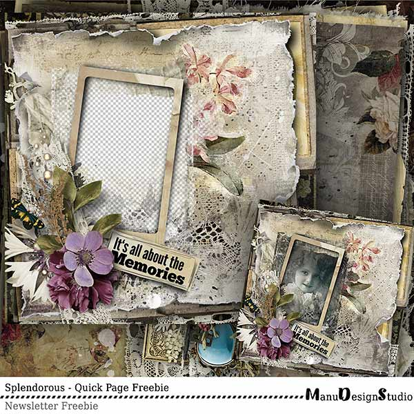 Scrapbook Quick Page Freebie