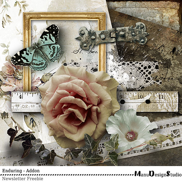scrapbooking freebie vintage mini kit