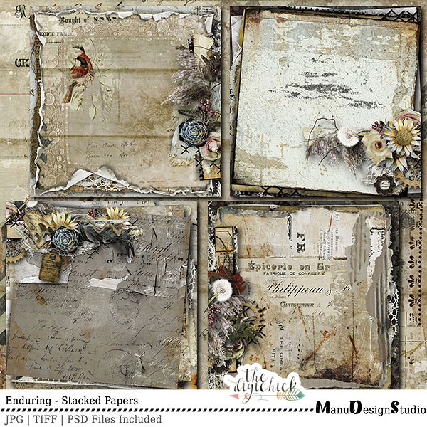 Enduring - Vintage Digital Scrapbooking