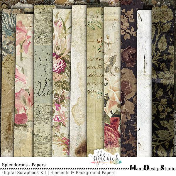Digital Scrapbooking Splendorous Papers
